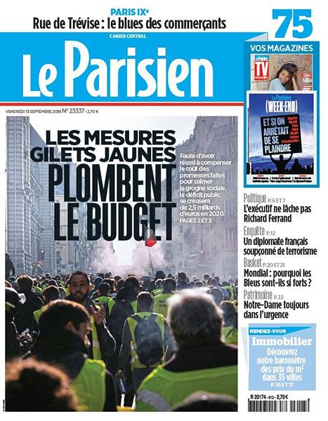 Le Parisien plombe les gilets jaunes (et tous les mouvements sociaux)