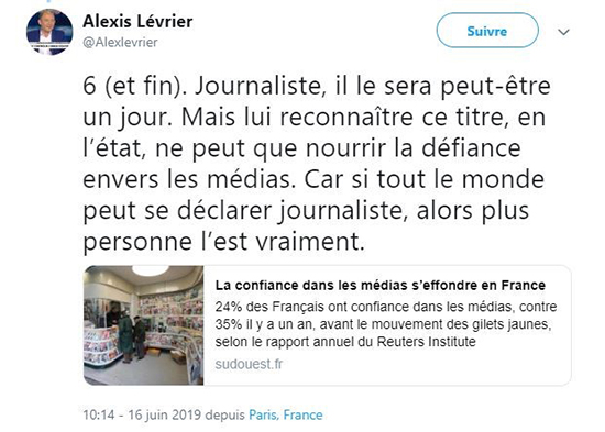 Qui Est Journaliste Mobilisation De Quelques Garde Frontieres Contre Des Intrus Acrimed Action Critique Medias