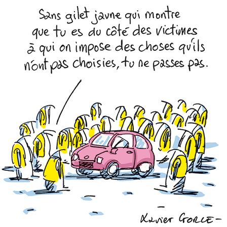 « Dessine-moi un gilet jaune », le mépris selon Xavier Gorce (Le Monde)